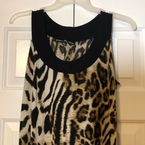 Ellen Parker Cheetah Print Dress